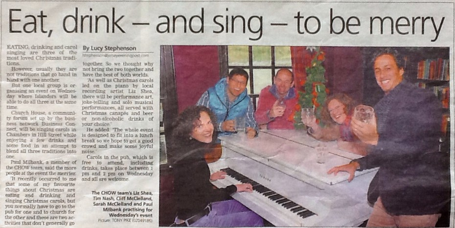 JEP - Carols in the Pub article