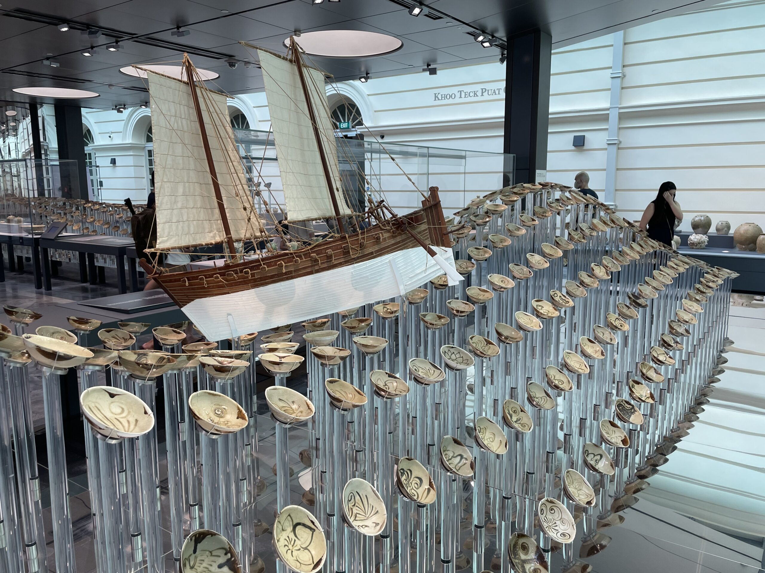 Model ship with its everyday ware cargo